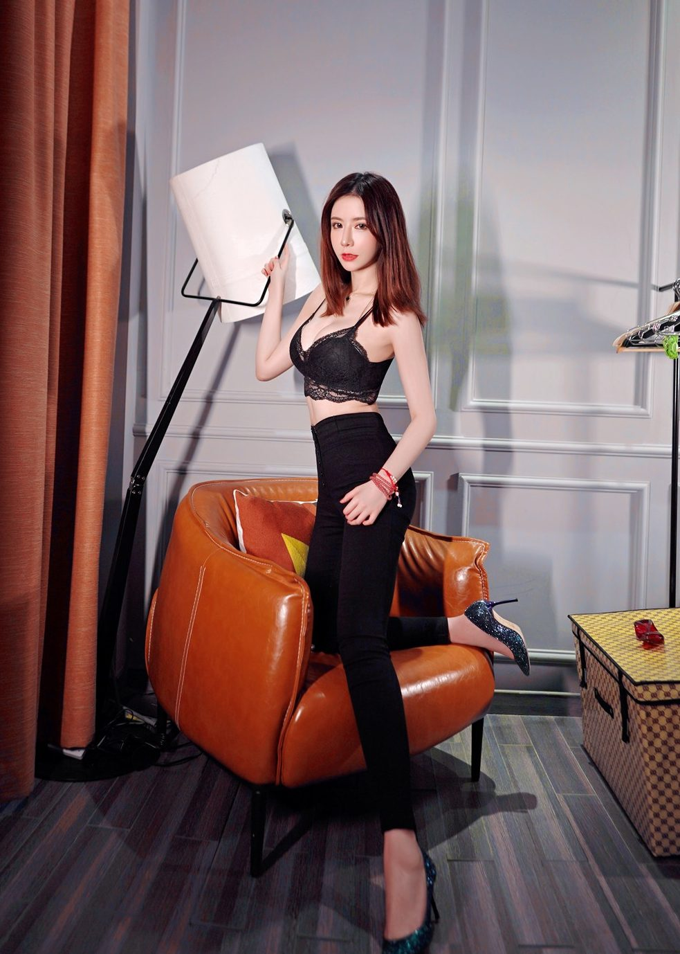 evelyn sexy party outfit asian girl