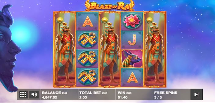 Register now at Happyluke and play Blaze of Ra to win big!