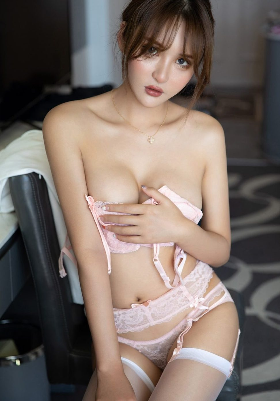 emily - sexy girl with big boobs wears a super nice lingerie