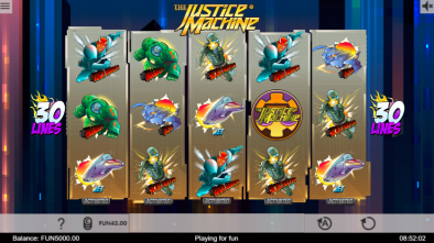 The Justice Machine slot game Happyluke