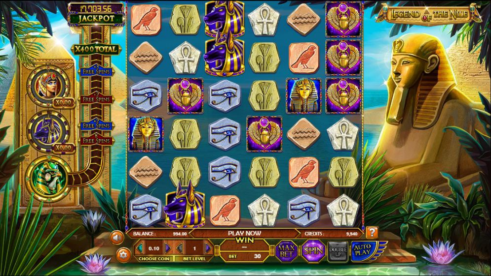 Legend of the Nile slot game review. Visit Happyluke.com and become a big winner